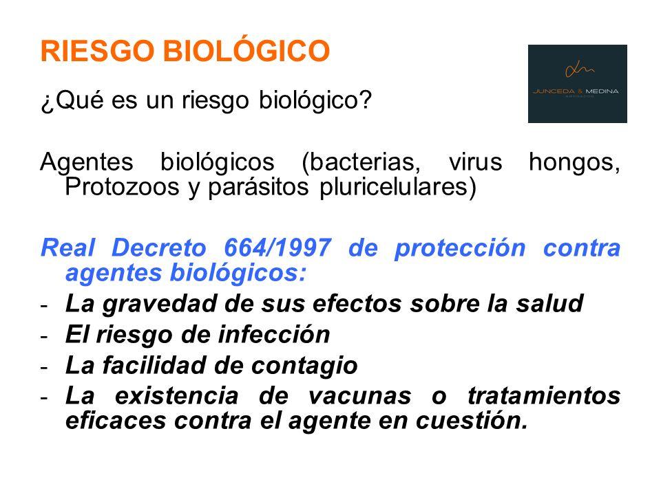RIESGO BIOLÓGICO ¿Qué es un riesgo biológico