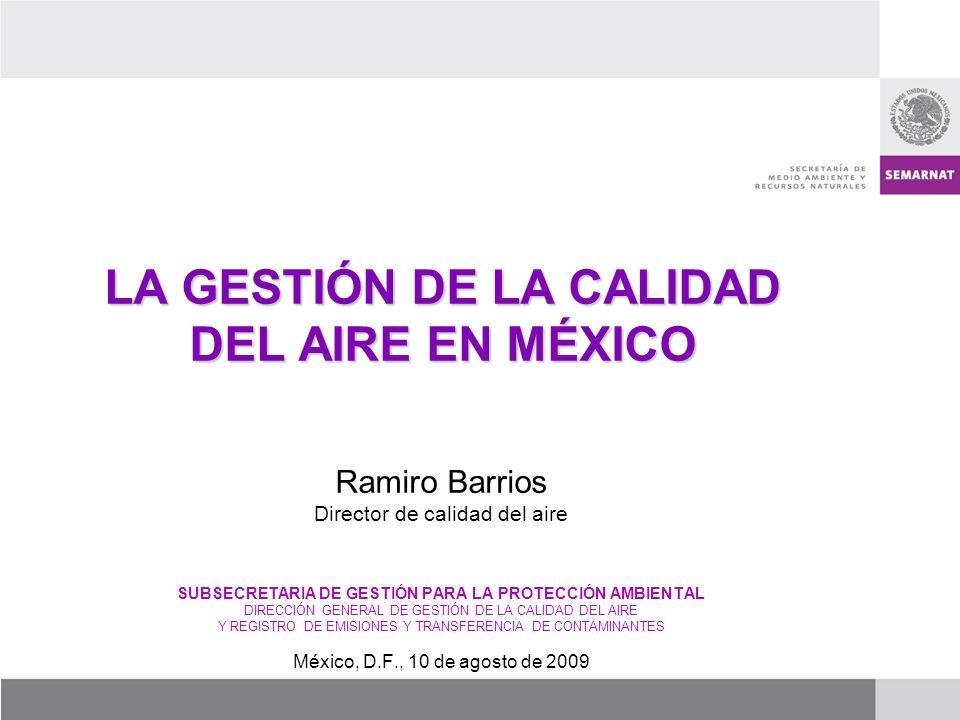 LA GESTIÓN DE LA CALIDAD DEL AIRE EN MÉXICO