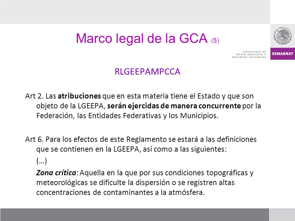 Marco legal de la GCA (5) RLGEEPAMPCCA