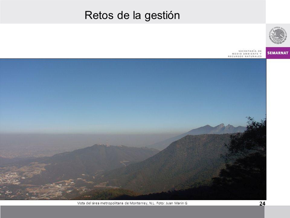 Vista del área metropolitana de Monterrey, N.L. Foto: Juan Marín G
