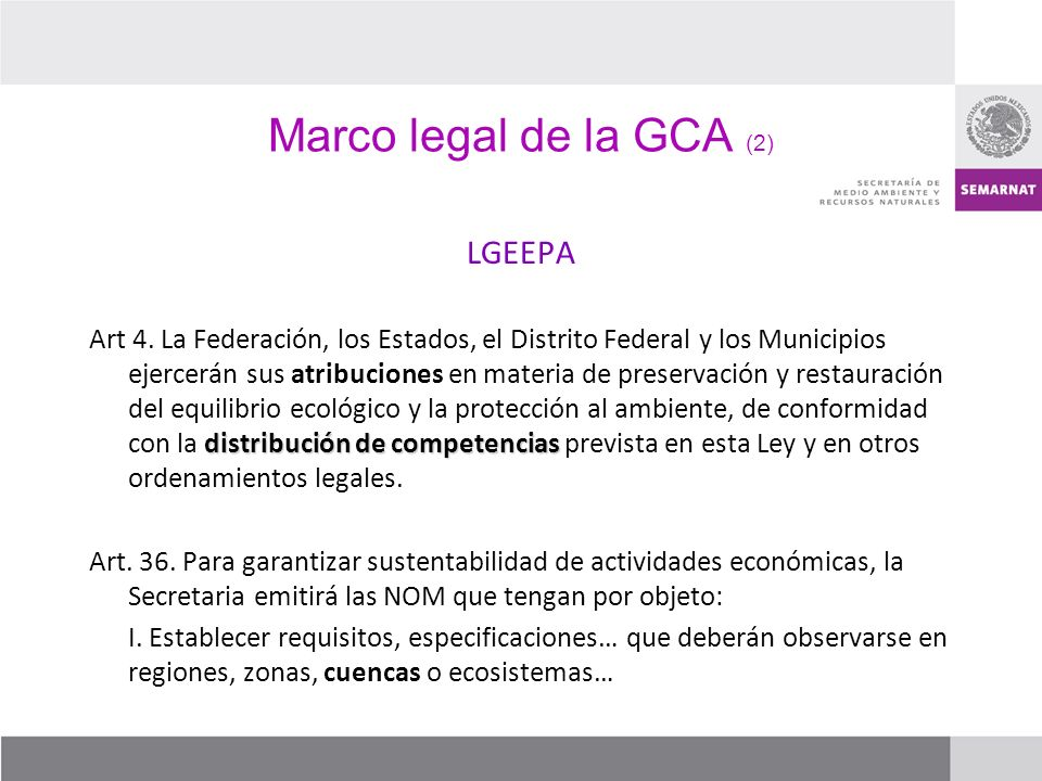 Marco legal de la GCA (2) LGEEPA