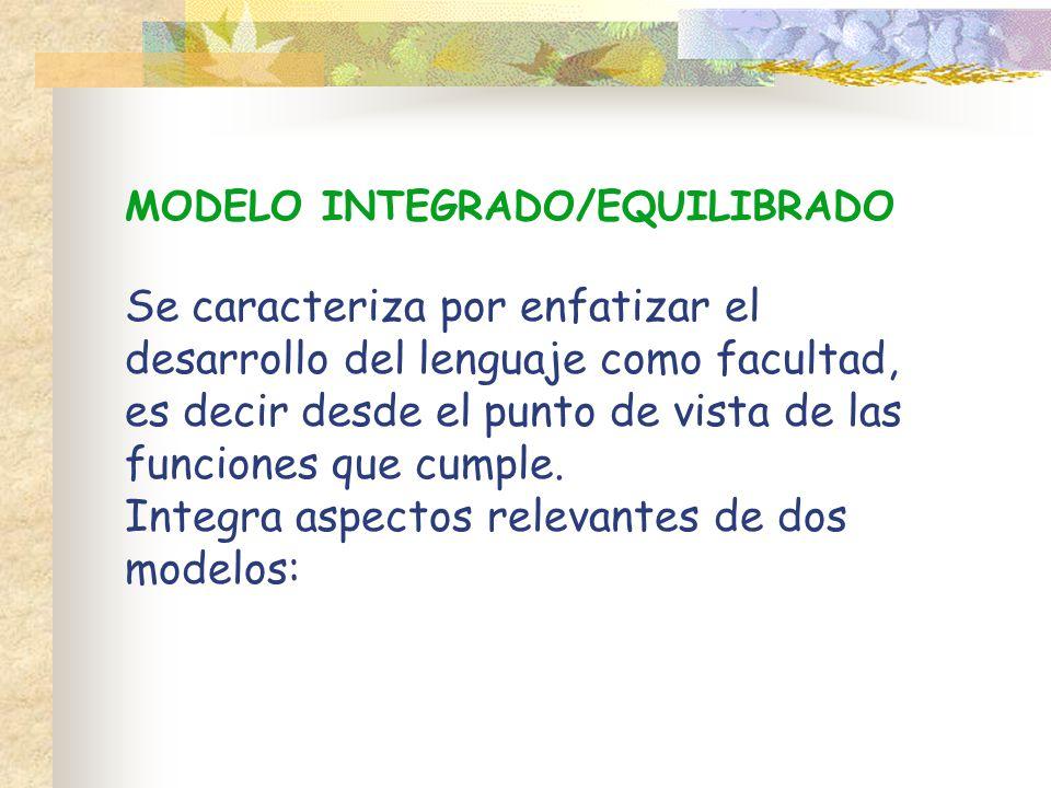 MODELO INTEGRADO/EQUILIBRADO