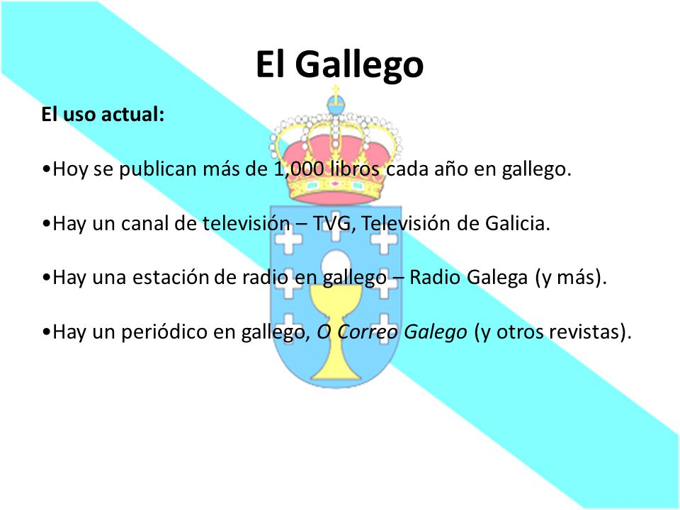 El Gallego El uso actual:
