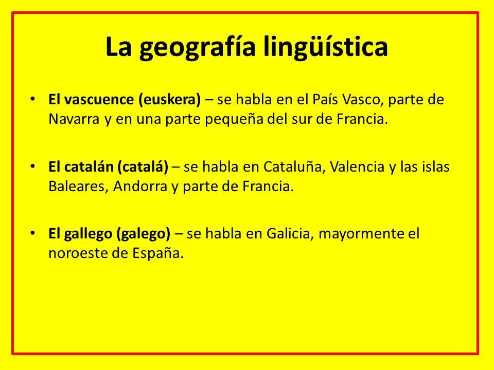 La geografía lingüística