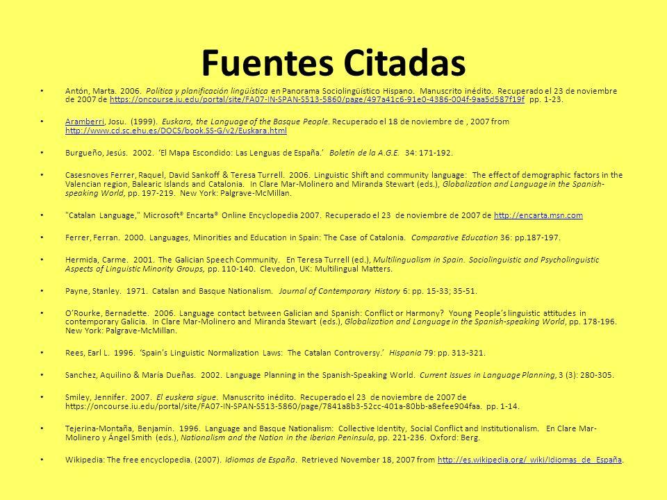 Fuentes Citadas