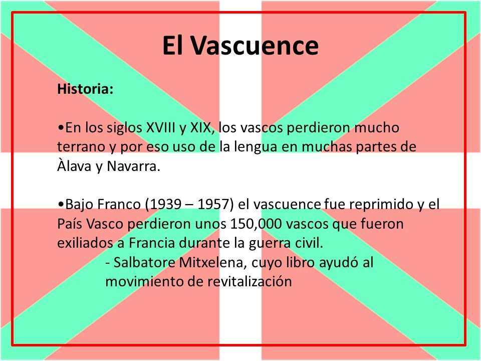 El Vascuence Historia: