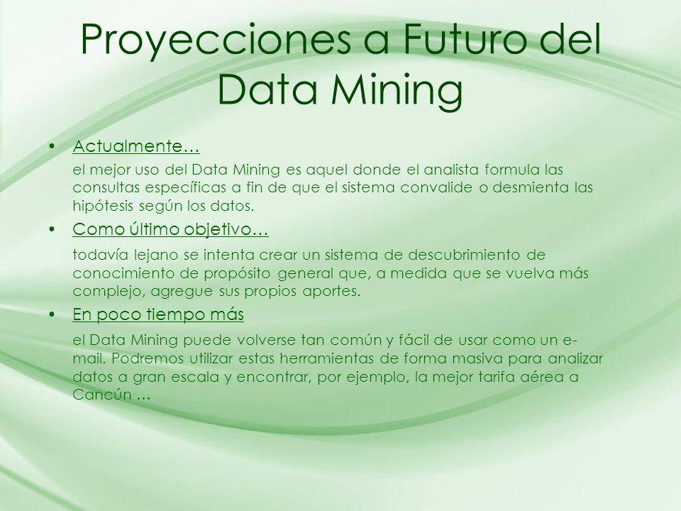 Proyecciones a Futuro del Data Mining