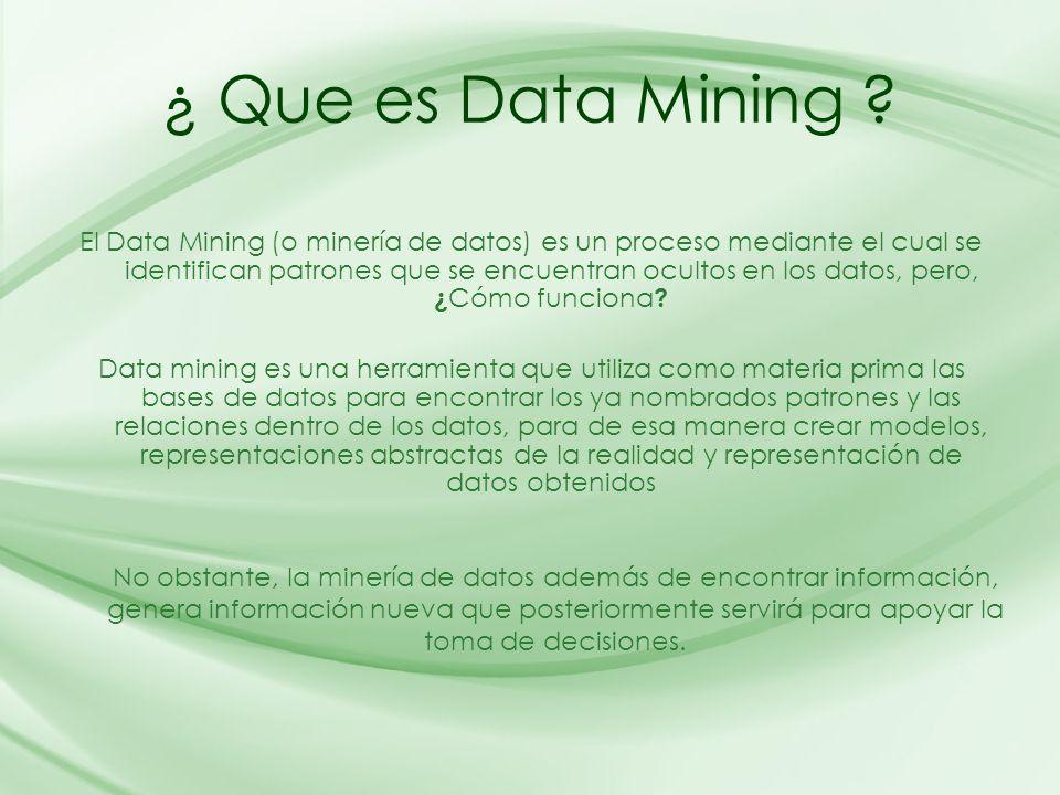 ¿ Que es Data Mining