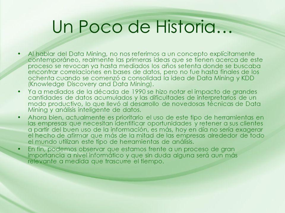 Un Poco de Historia…