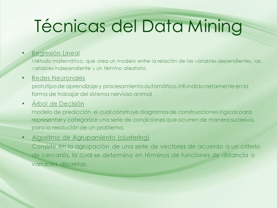 Técnicas del Data Mining