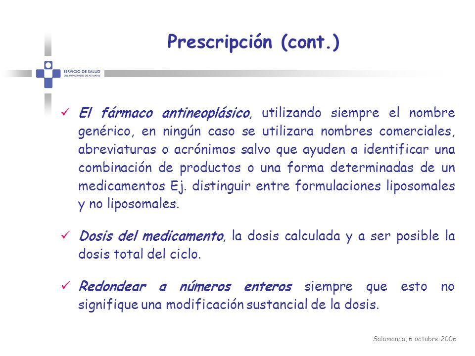 Prescripción (cont.)