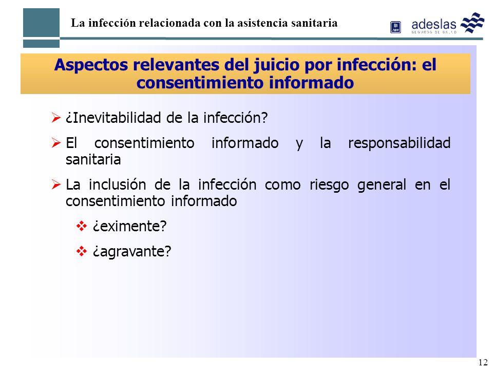 La infección relacionada con la asistencia sanitaria