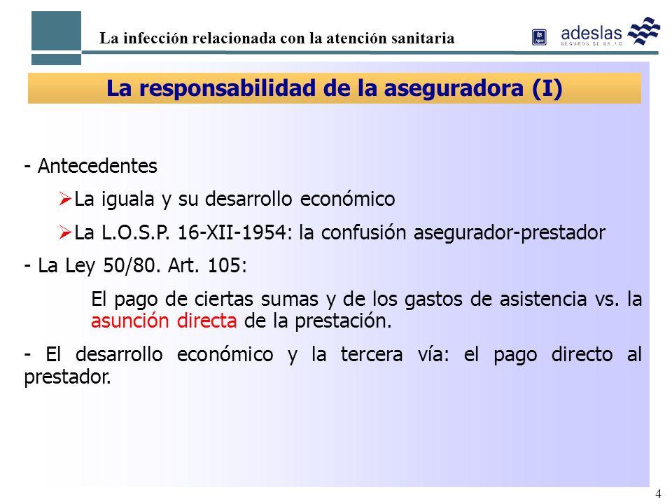 La responsabilidad de la aseguradora (I)