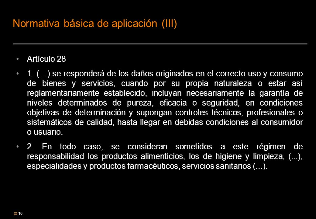 Normativa básica de aplicación (III)