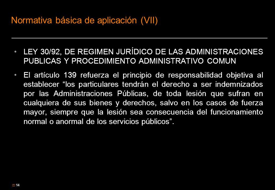 Normativa básica de aplicación (VII)