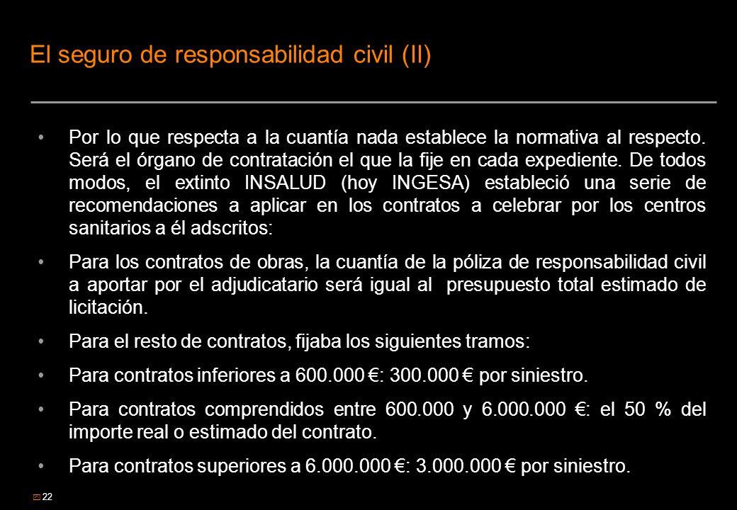 El seguro de responsabilidad civil (II)