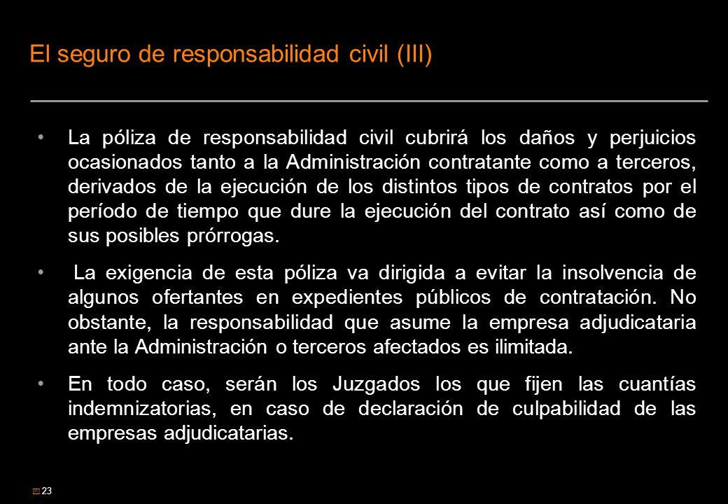 El seguro de responsabilidad civil (III)