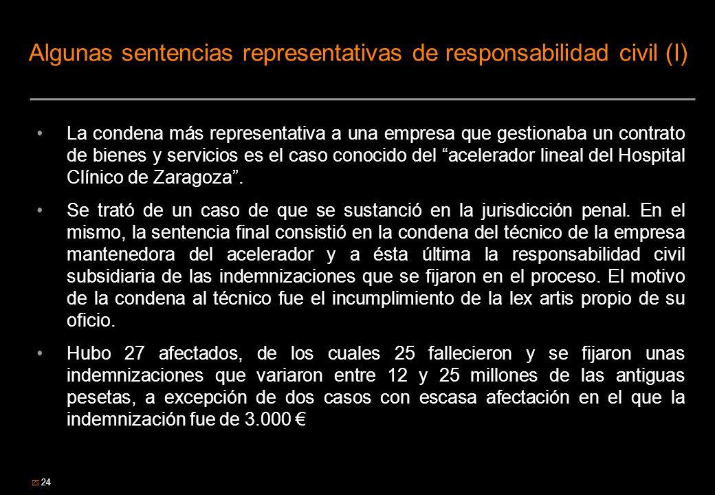 Algunas sentencias representativas de responsabilidad civil (I)