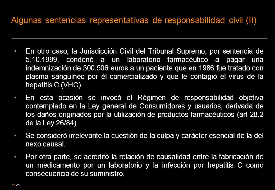 Algunas sentencias representativas de responsabilidad civil (II)