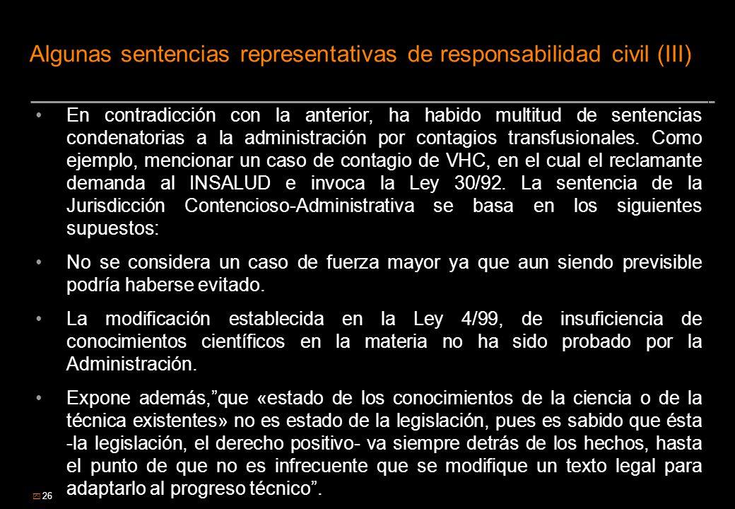 Algunas sentencias representativas de responsabilidad civil (III)