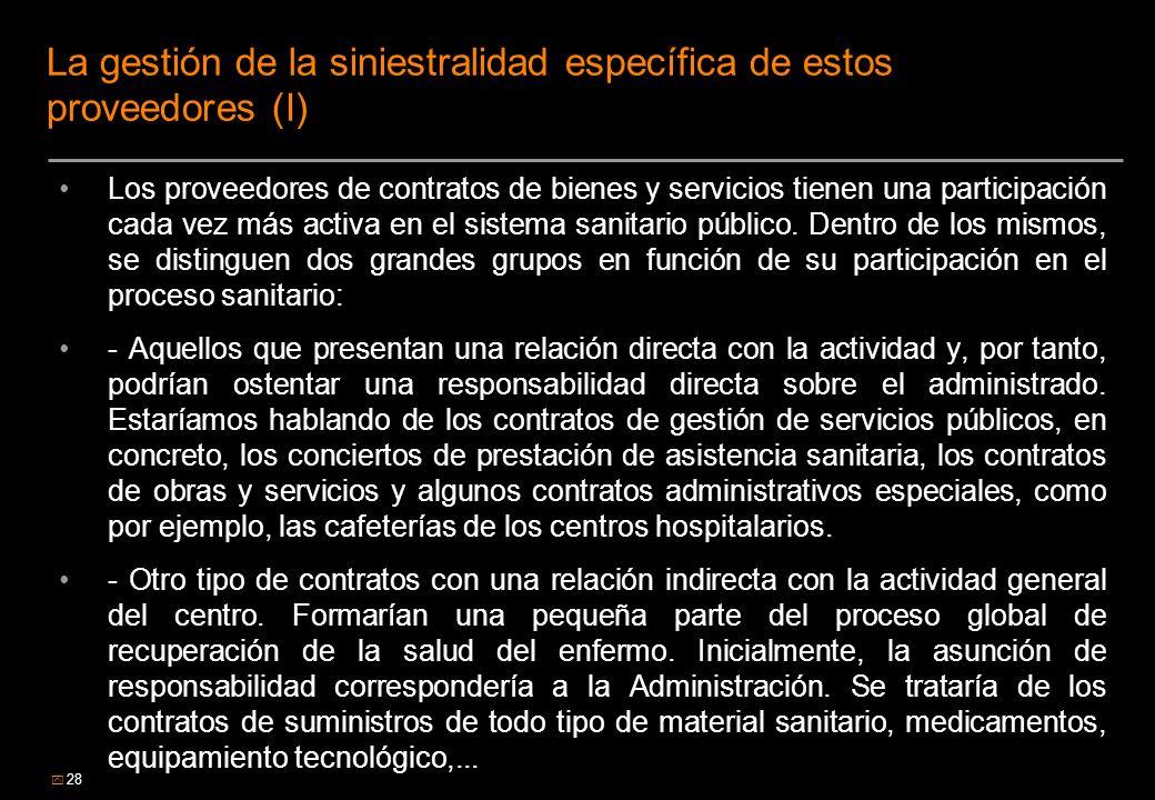 La gestión de la siniestralidad específica de estos proveedores (I)
