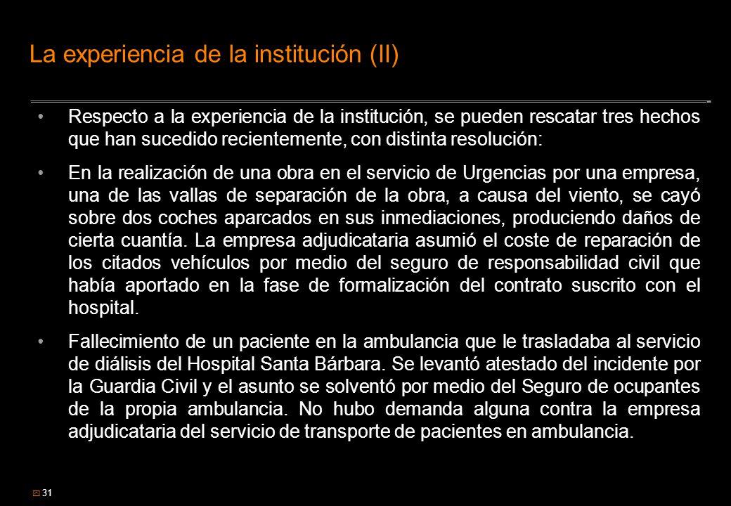 La experiencia de la institución (II)