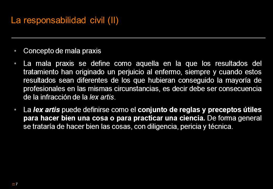 La responsabilidad civil (II)