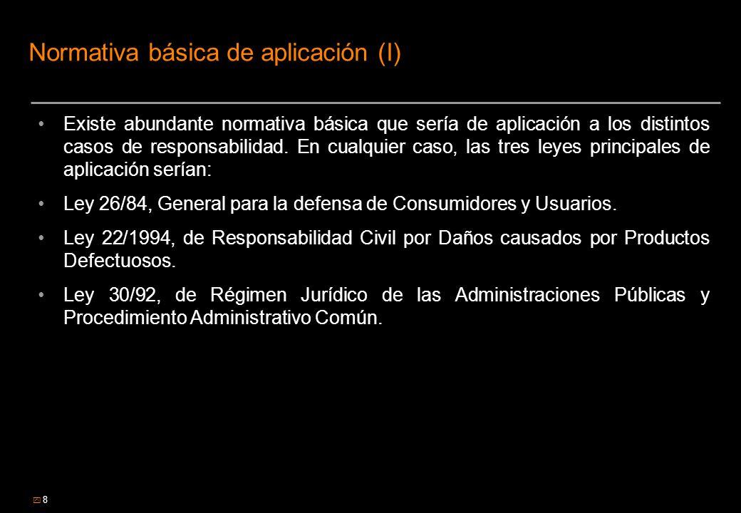 Normativa básica de aplicación (I)