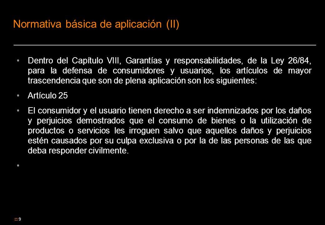 Normativa básica de aplicación (II)