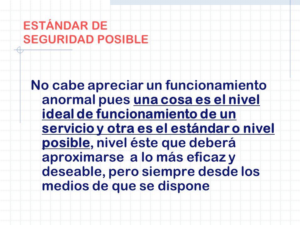 ESTÁNDAR DE SEGURIDAD POSIBLE
