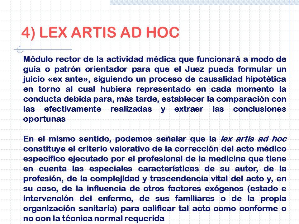 4) LEX ARTIS AD HOC