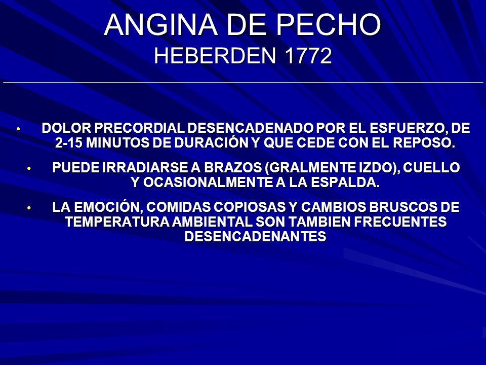 ANGINA DE PECHO HEBERDEN 1772