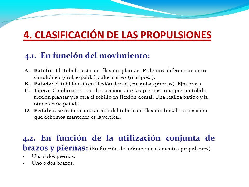 4. CLASIFICACIÓN DE LAS PROPULSIONES