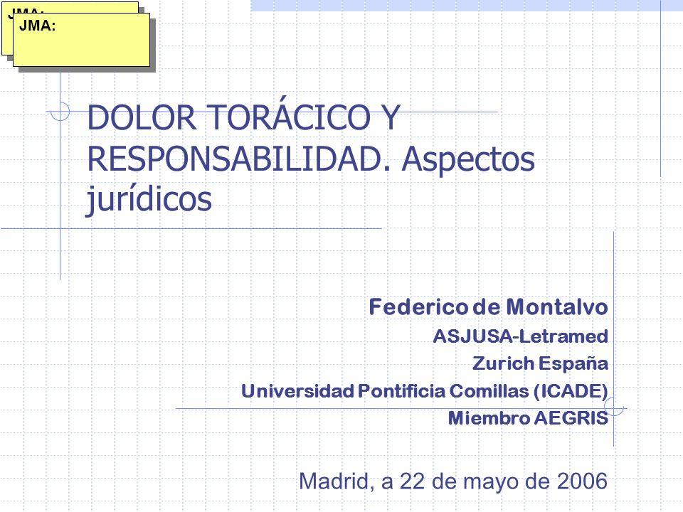 DOLOR TORÁCICO Y RESPONSABILIDAD. Aspectos jurídicos
