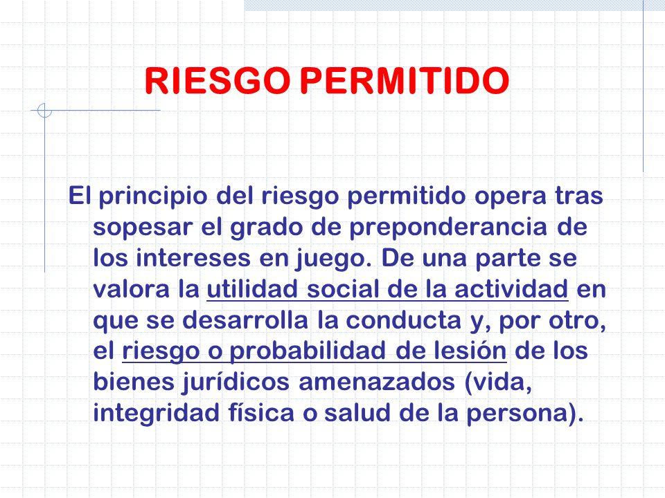 RIESGO PERMITIDO