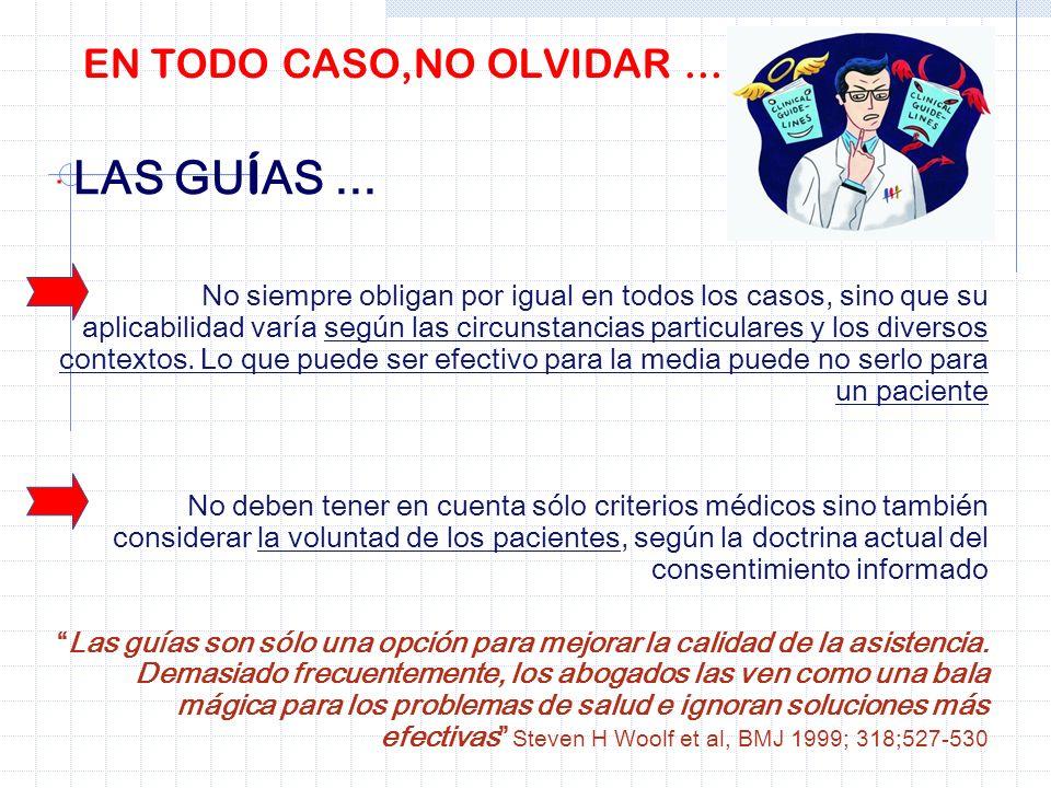 EN TODO CASO,NO OLVIDAR ... · LAS GUÍAS ...