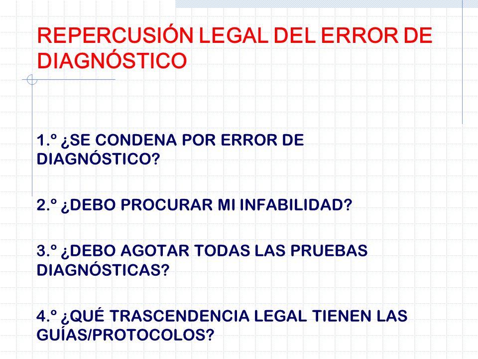 REPERCUSIÓN LEGAL DEL ERROR DE DIAGNÓSTICO