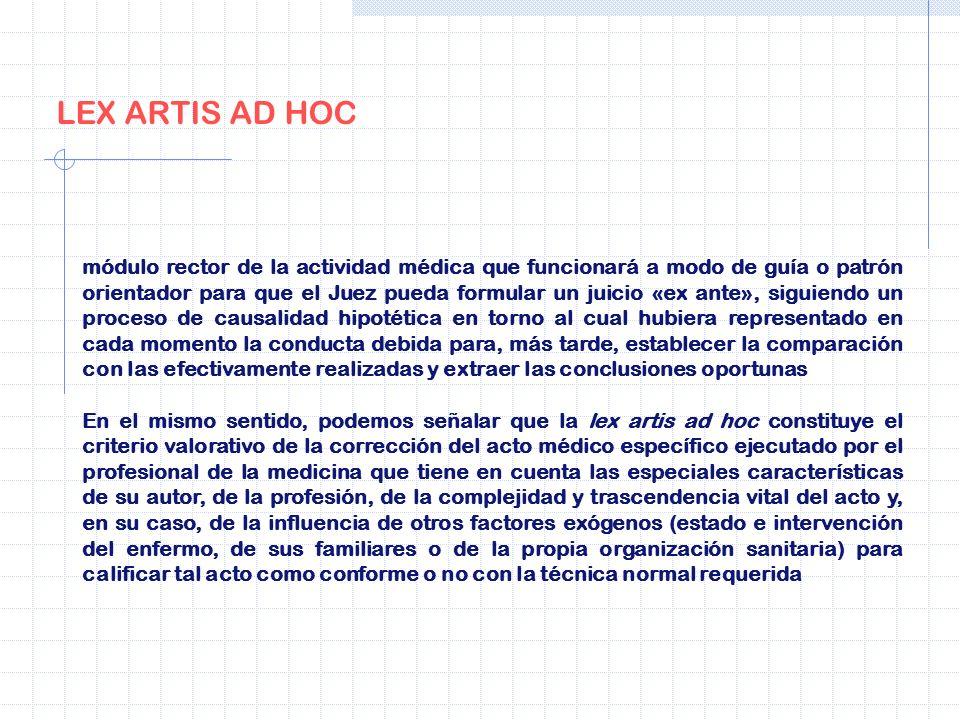 LEX ARTIS AD HOC