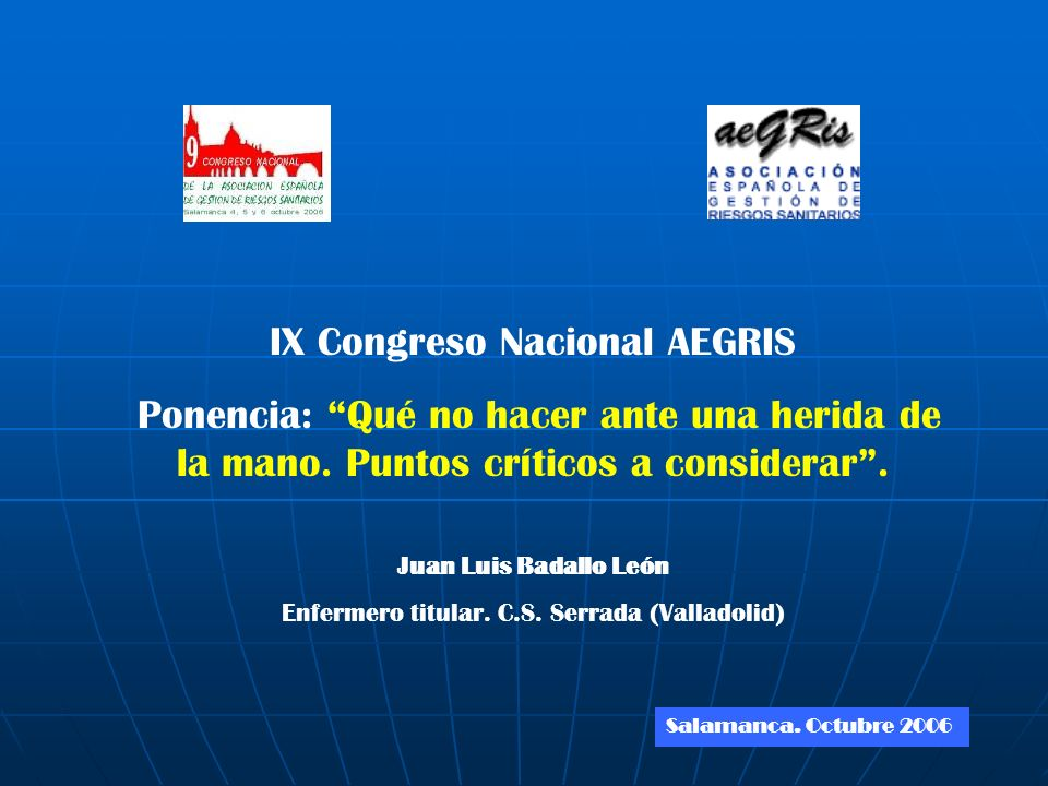 IX Congreso Nacional AEGRIS