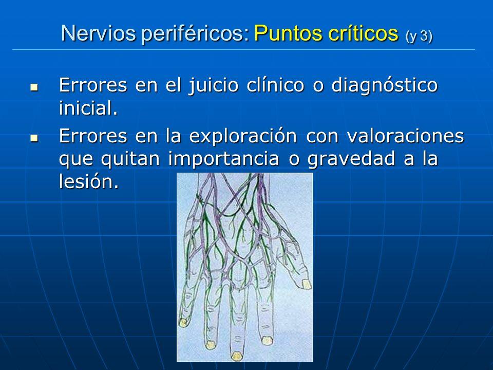 Nervios periféricos: Puntos críticos (y 3)