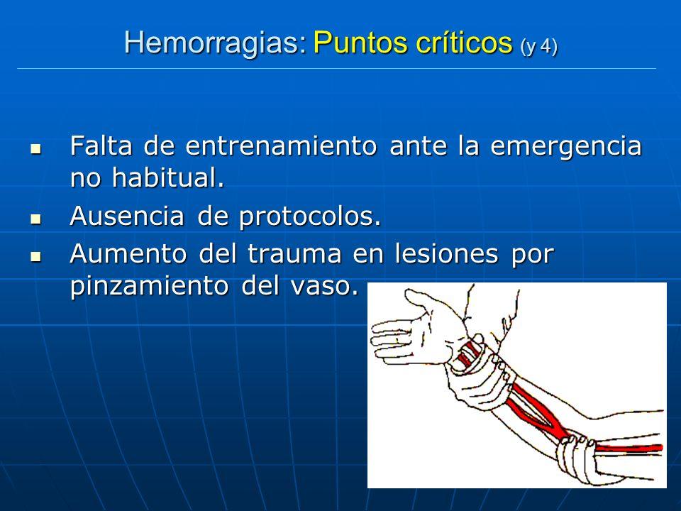 Hemorragias: Puntos críticos (y 4)