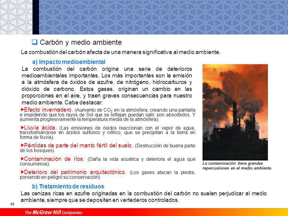 Carbón y medio ambiente
