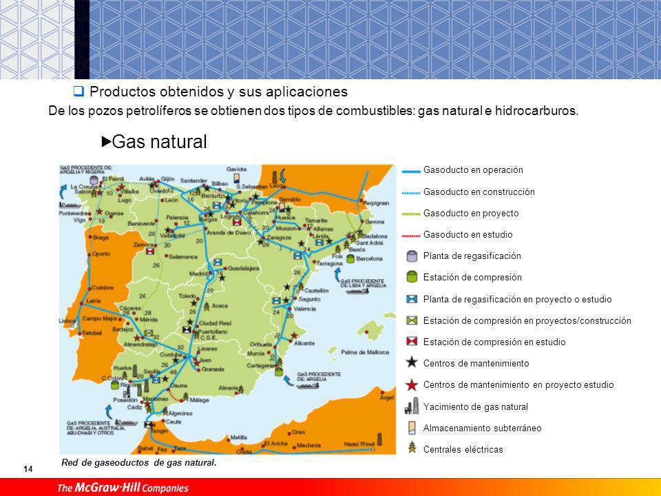 Gas natural Productos obtenidos y sus aplicaciones