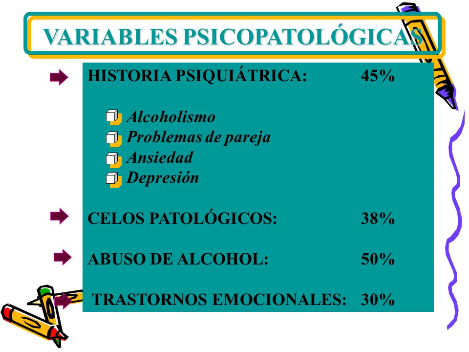 VARIABLES PSICOPATOLÓGICAS
