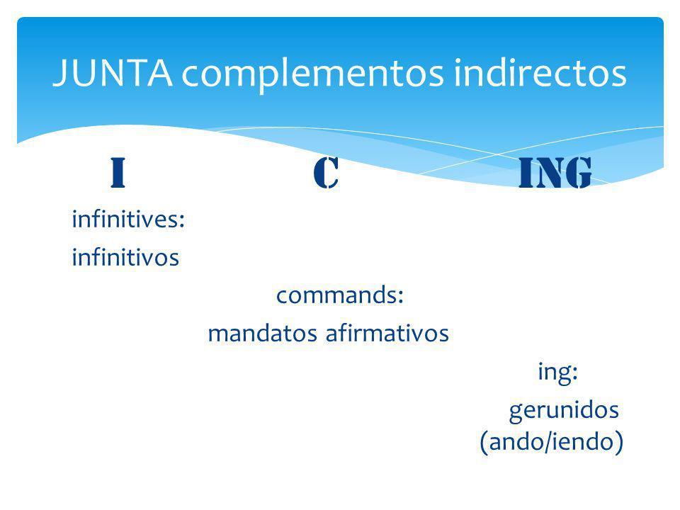 JUNTA complementos indirectos