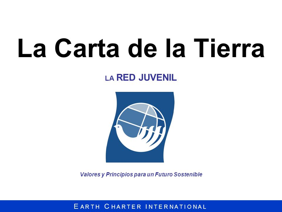 La Carta de la Tierra LA RED JUVENIL