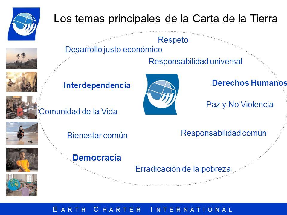 Los temas principales de la Carta de la Tierra