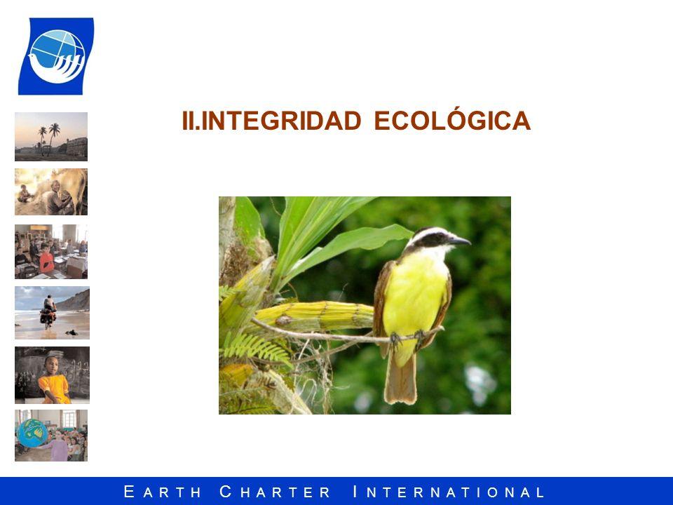 II.INTEGRIDAD ECOLÓGICA