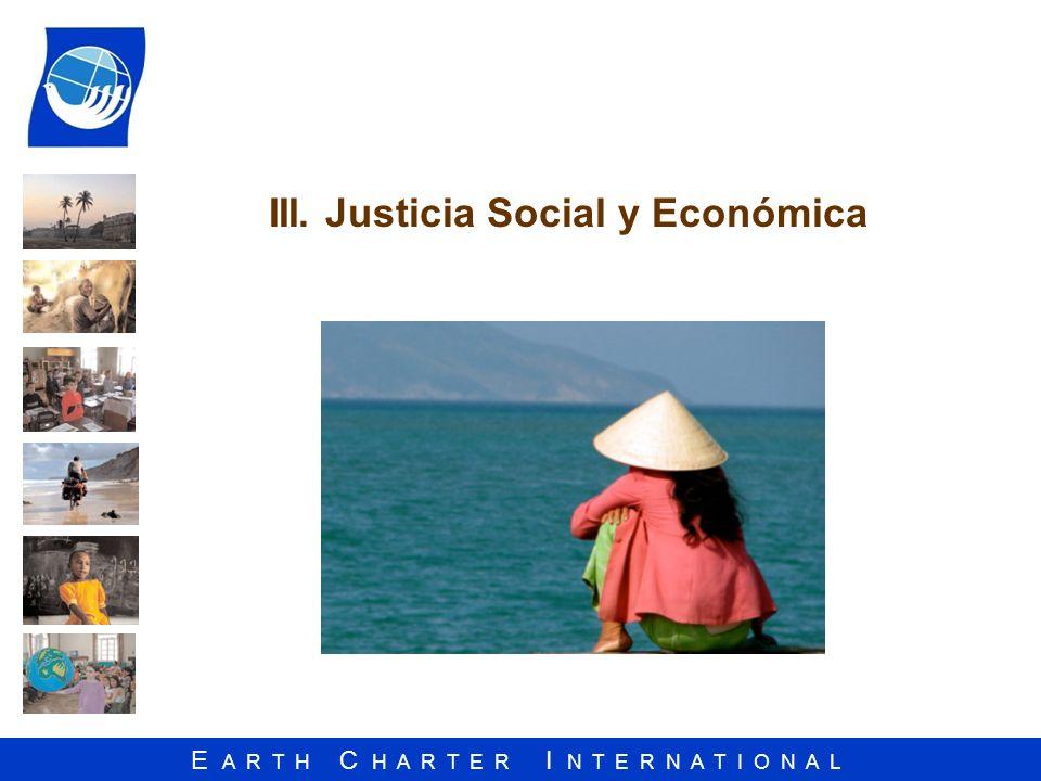 III. Justicia Social y Económica