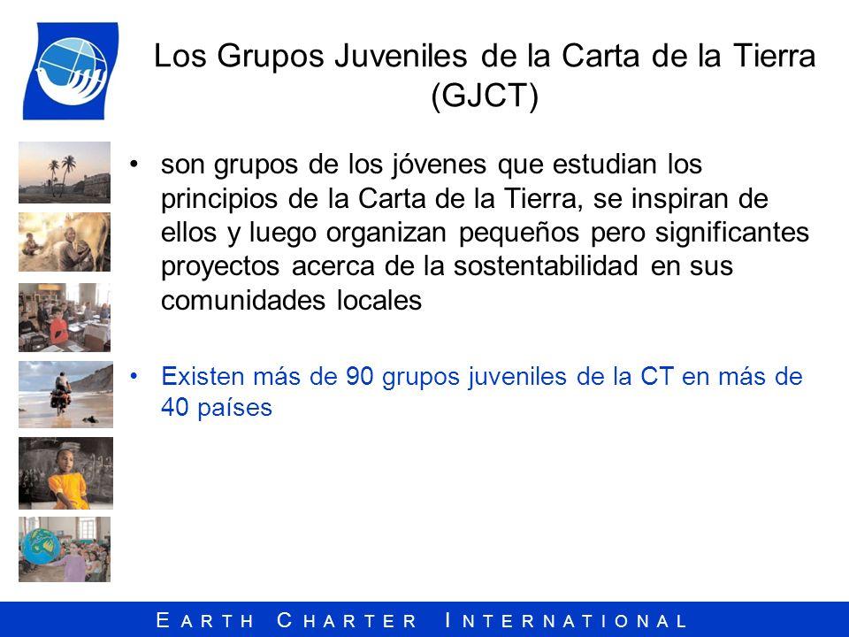Los Grupos Juveniles de la Carta de la Tierra (GJCT)